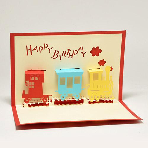Поп-ап открытки на день рождения