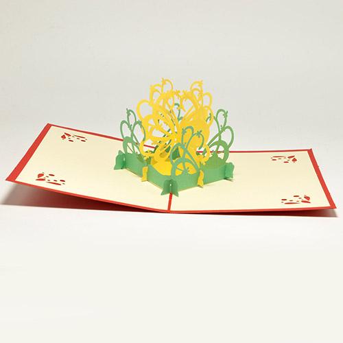 Открытки цветы 3д